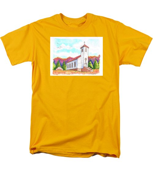 St. Peter's Catholic Church, Fayette, Mi Men's T-Shirt  (Regular Fit) by Carlos G Groppa