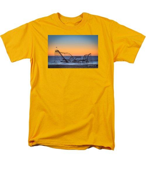 Star Jet Roller Coaster Ride  Men's T-Shirt  (Regular Fit) by Michael Ver Sprill
