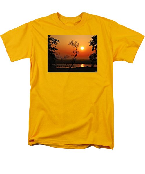 Steamy Summer Sunrise Men's T-Shirt  (Regular Fit) by Laura Ragland