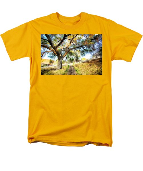 Strolling Down The Path Men's T-Shirt  (Regular Fit) by Carol Crisafi