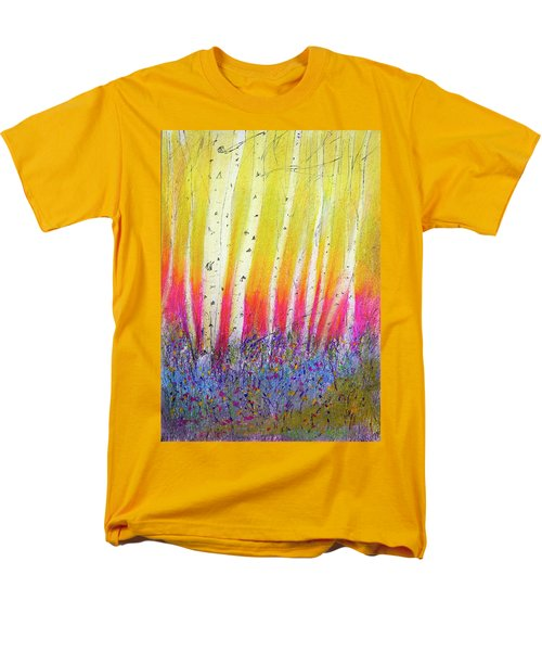 Men's T-Shirt  (Regular Fit) featuring the pastel Summer Birch  by Linde Townsend