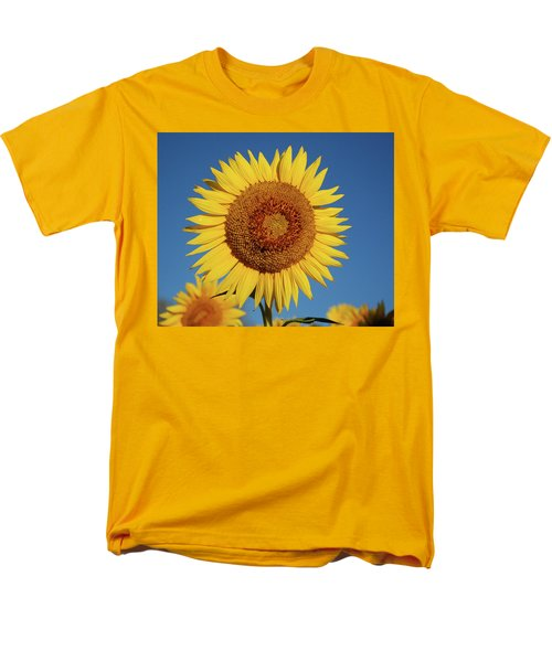 Sunflower And Blue Sky Men's T-Shirt  (Regular Fit) by Nancy Landry