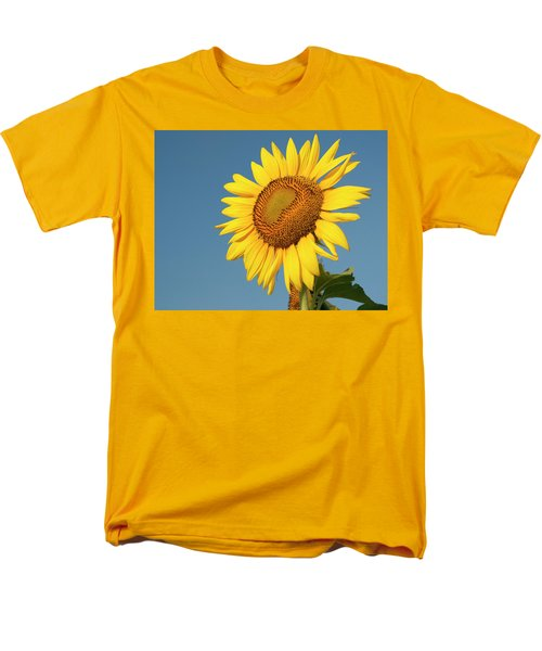 Sunflower And Blue Sky Men's T-Shirt  (Regular Fit) by Phyllis Peterson