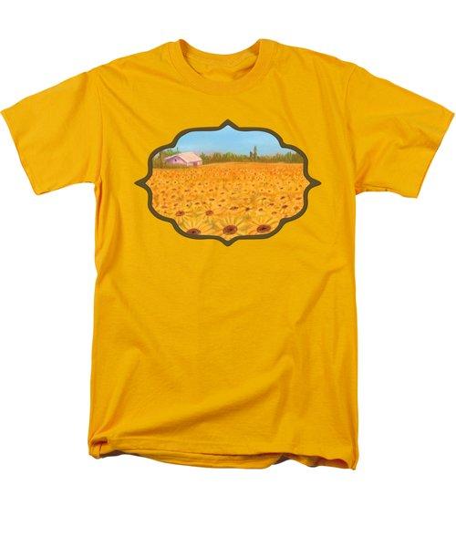 Sunflower Field Men's T-Shirt  (Regular Fit) by Anastasiya Malakhova