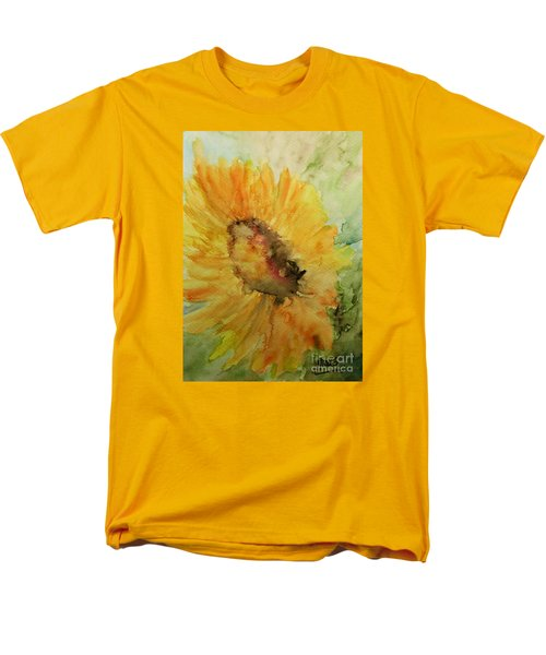 Men's T-Shirt  (Regular Fit) featuring the painting Sunflower Watercolor by AmaS Art