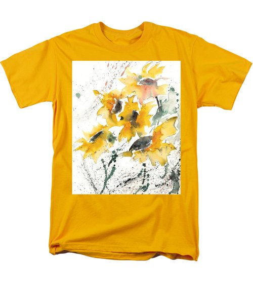 Men's T-Shirt  (Regular Fit) featuring the painting Sunflowers 10 by Ismeta Gruenwald