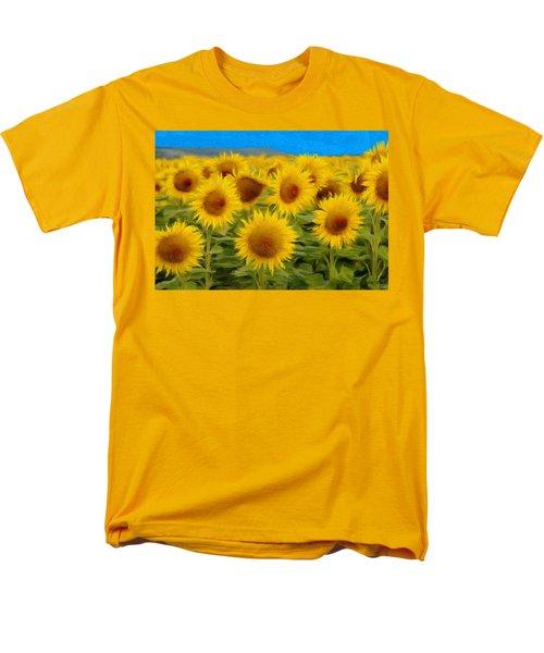 Sunflowers In The Field Men's T-Shirt  (Regular Fit) by Jeff Kolker