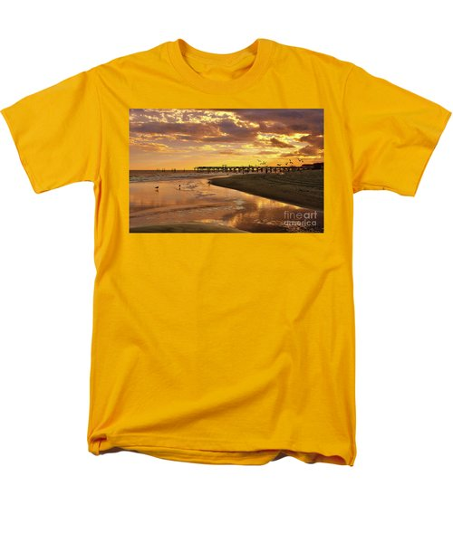 Sunset And Gulls Men's T-Shirt  (Regular Fit) by Kathy Baccari