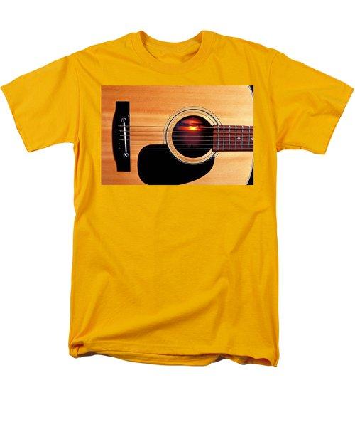 Sunset In Guitar Men's T-Shirt  (Regular Fit) by Garry Gay