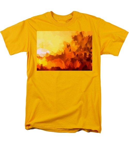 Sunset In Valhalla Men's T-Shirt  (Regular Fit) by Paulo Guimaraes