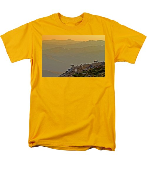 Men's T-Shirt  (Regular Fit) featuring the photograph Sunset On The Edge by Scott Mahon