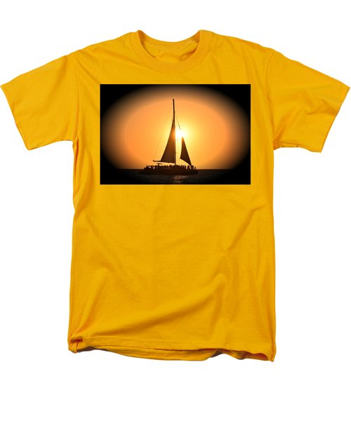 Sunset Sail Men's T-Shirt  (Regular Fit) by Gary Smith