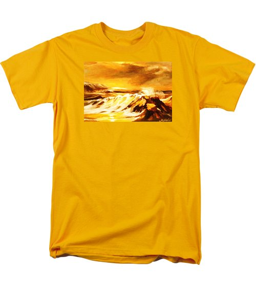Men's T-Shirt  (Regular Fit) featuring the painting Sunset Surf by Al Brown