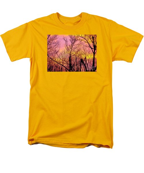 Sunset Through The Trees Men's T-Shirt  (Regular Fit) by Craig Walters