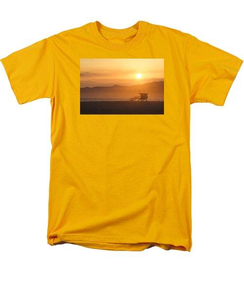 Sunset Venice Beach  Men's T-Shirt  (Regular Fit) by Christina Lihani
