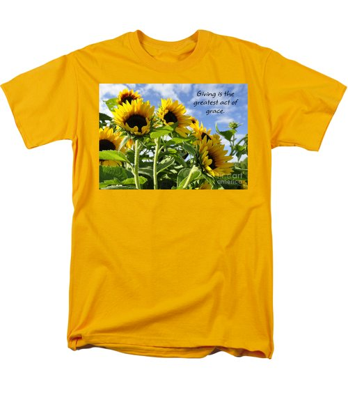 Men's T-Shirt  (Regular Fit) featuring the photograph Sunshine Lollipops Grace by Diane E Berry