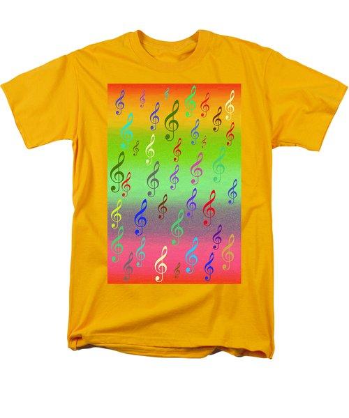 Men's T-Shirt  (Regular Fit) featuring the digital art Symphony Of Colors by Angel Jesus De la Fuente