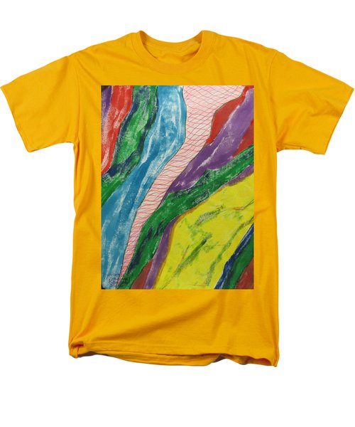 Men's T-Shirt  (Regular Fit) featuring the painting Artwork On T-shirt - 0010 by Mudiama Kammoh