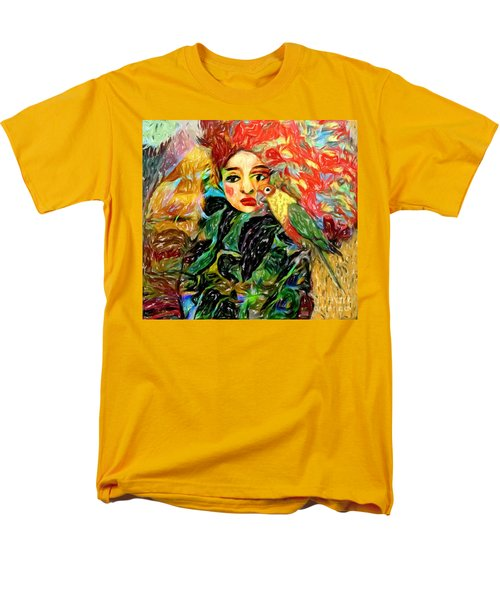 Men's T-Shirt  (Regular Fit) featuring the digital art Talk To Me by Alexis Rotella