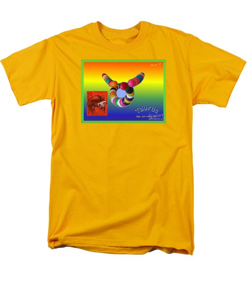 Men's T-Shirt  (Regular Fit) featuring the painting Taurus by The Art of Alice Terrill