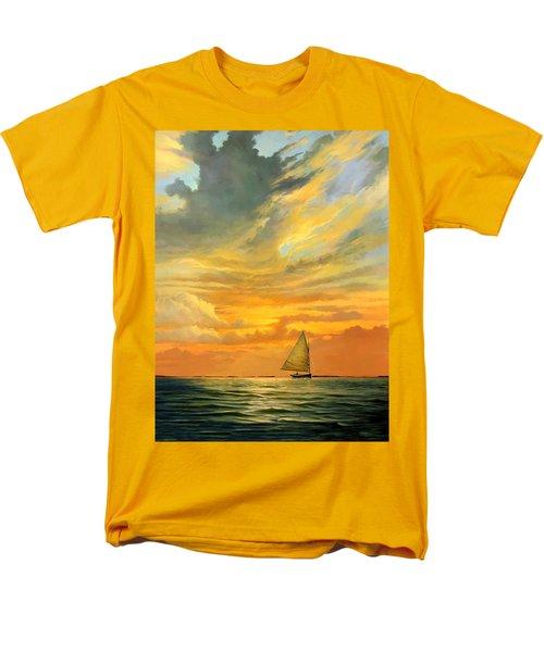Men's T-Shirt  (Regular Fit) featuring the painting Ten Thousand Islands by David  Van Hulst