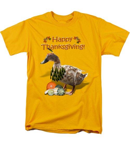 Thanksgiving Indian Duck Men's T-Shirt  (Regular Fit)