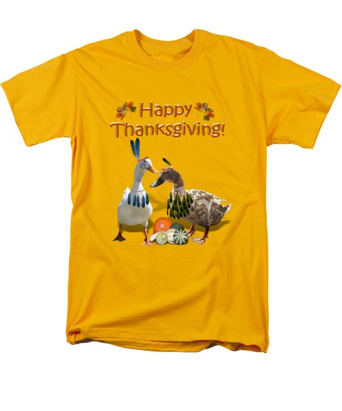 Thanksgiving Indian Ducks Men's T-Shirt  (Regular Fit) by Gravityx9  Designs