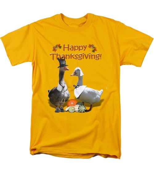 Thanksgiving Pilgrim Ducks Men's T-Shirt  (Regular Fit)