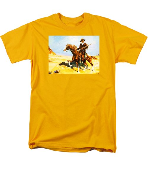 Men's T-Shirt  (Regular Fit) featuring the painting The Cavalry Scout by Al Brown