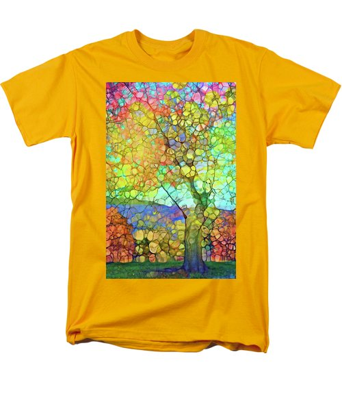 Men's T-Shirt  (Regular Fit) featuring the digital art The Contagious Laughter Of Trees by Tara Turner