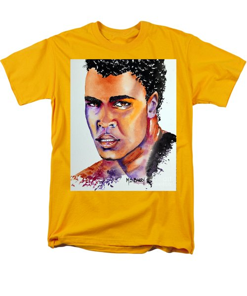 Men's T-Shirt  (Regular Fit) featuring the painting The Great Ali by Maria Barry