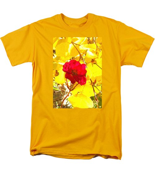 The Last Rose Of Autumn Men's T-Shirt  (Regular Fit) by Anastasia Savage Ealy