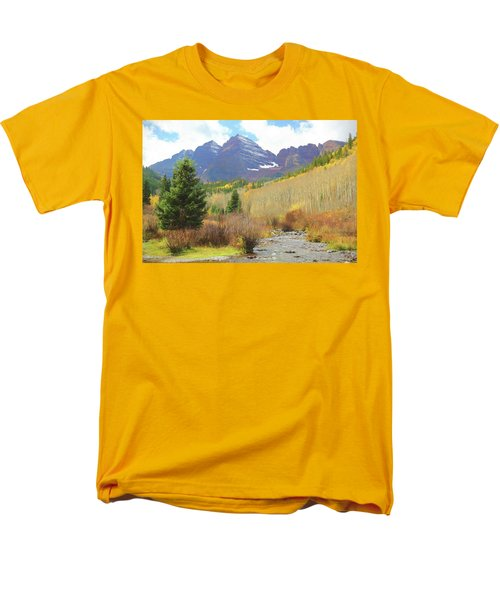 Men's T-Shirt  (Regular Fit) featuring the photograph The Maroon Bells Reimagined 3 by Eric Glaser
