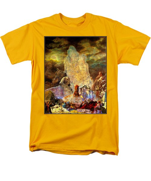 Men's T-Shirt  (Regular Fit) featuring the painting The Valley Of Sphinks by Henryk Gorecki