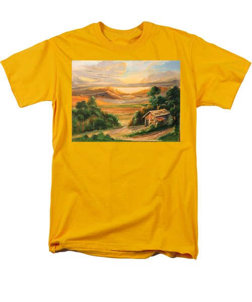 The Warmth Of Sunset Men's T-Shirt  (Regular Fit) by Remegio Onia