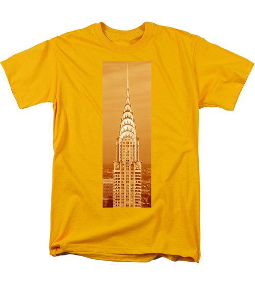 Chrysler Building At Sunset Men's T-Shirt  (Regular Fit) by Panoramic Images