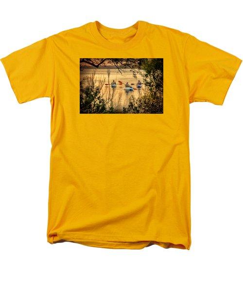 Three Kayaks Coming Home Men's T-Shirt  (Regular Fit) by Phil Mancuso