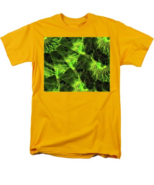 Men's T-Shirt  (Regular Fit) featuring the digital art Threshed Green by Ron Bissett