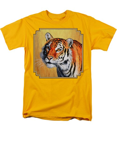 Tiger Portrait Men's T-Shirt  (Regular Fit) by Crista Forest