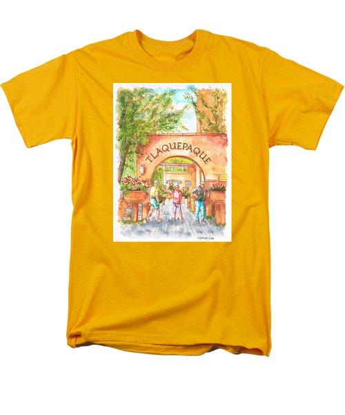 Tlaquepaque Gallery In Sedona, Arizona Men's T-Shirt  (Regular Fit) by Carlos G Groppa