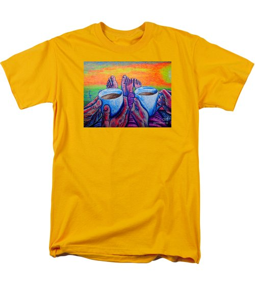 Men's T-Shirt  (Regular Fit) featuring the painting Together by Viktor Lazarev