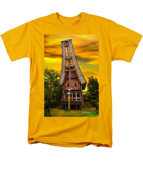 Men's T-Shirt  (Regular Fit) featuring the photograph Toraja Architecture by Charuhas Images