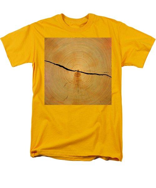 Tree Rings Men's T-Shirt  (Regular Fit) by Steven Ralser