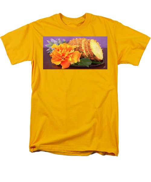 Tropical Delight Still Life Men's T-Shirt  (Regular Fit) by Ben and Raisa Gertsberg