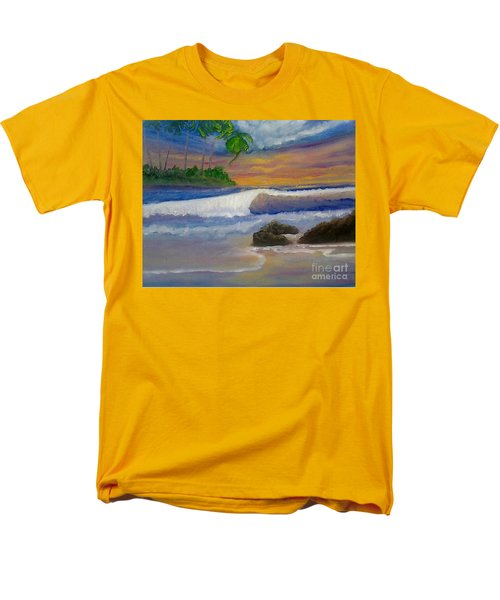 Men's T-Shirt  (Regular Fit) featuring the painting Tropical Dream by Holly Martinson