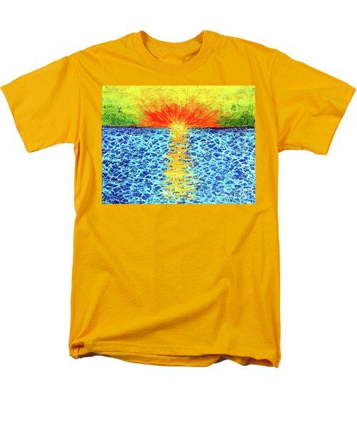 Tropical Sunrise Men's T-Shirt  (Regular Fit) by Pattie Calfy