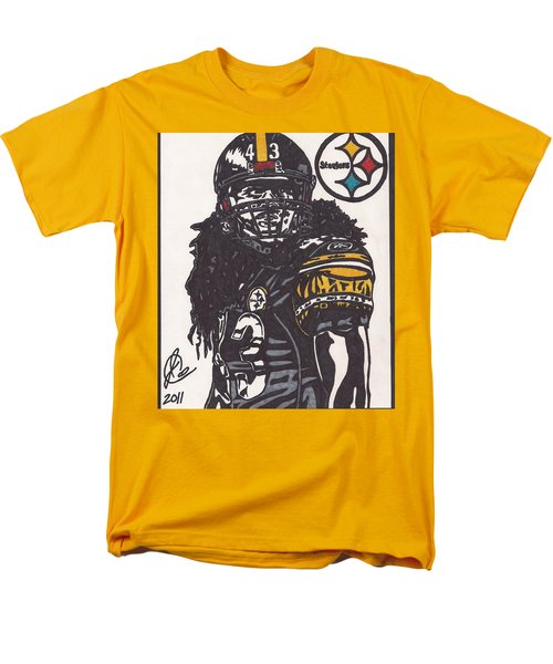 Men's T-Shirt  (Regular Fit) featuring the drawing Troy Polomalu 1 by Jeremiah Colley