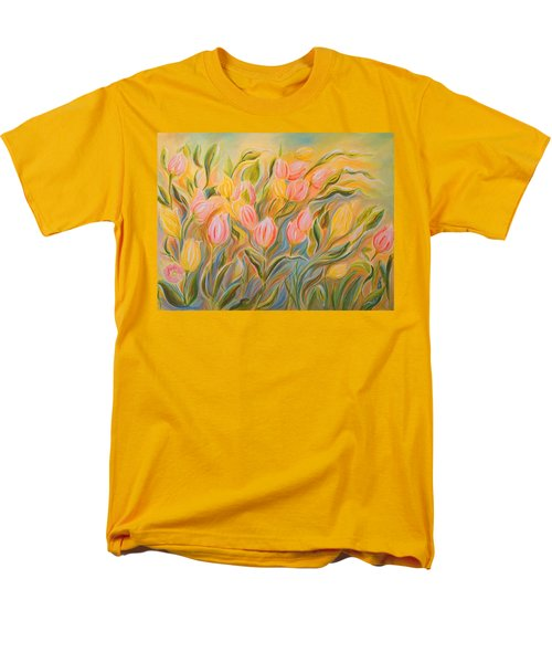 Tulips Men's T-Shirt  (Regular Fit) by Theresa Marie Johnson