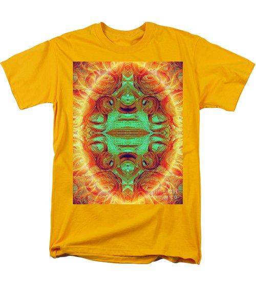 Turquoise Fire Men's T-Shirt  (Regular Fit) by Rachel Hannah