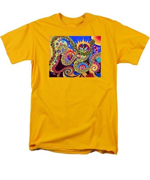Men's T-Shirt  (Regular Fit) featuring the painting Serpent's Dance by Marina Petro